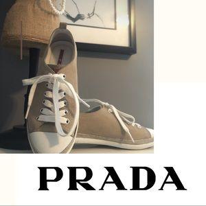 Prada suede sneakers excellent condition. Sz 5